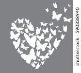 white silhouettes of... | Shutterstock .eps vector #590338940