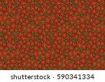 stylized hand drawn orange... | Shutterstock . vector #590341334