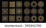 square shape icons. abstract... | Shutterstock .eps vector #590341700