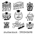 graduation wishes monochrome... | Shutterstock .eps vector #590343698