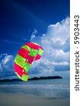 Parachute Landing By The Beach