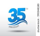 35 years anniversary... | Shutterstock .eps vector #590348180