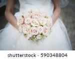 bridal bouquet of flowers | Shutterstock . vector #590348804