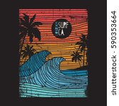 california surf typography  tee ... | Shutterstock .eps vector #590353664