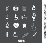 medical icons | Shutterstock .eps vector #590354060