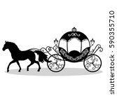 decorative brougham. coach.... | Shutterstock .eps vector #590355710