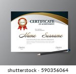 certificate template a4 size... | Shutterstock .eps vector #590356064