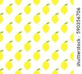 lemon seamless pattern. vector... | Shutterstock .eps vector #590356706