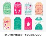 vector illustration of easter... | Shutterstock .eps vector #590357270