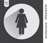 woman flat icon. simple... | Shutterstock .eps vector #590358194