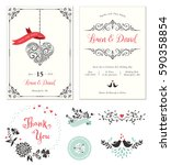 ornate wedding cards with... | Shutterstock .eps vector #590358854