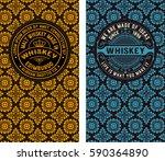 set of retro cards.   Shutterstock .eps vector #590364890