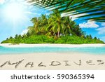 whole tropical island within... | Shutterstock . vector #590365394