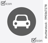 transport icon. car sign.... | Shutterstock .eps vector #590367278