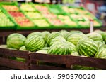 Pile Of Fresh Ripe Watermelons...
