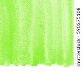 green watercolor brush drawn... | Shutterstock . vector #590375108