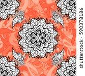 seamless oriental ornament in... | Shutterstock . vector #590378186