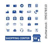 shopping center icons | Shutterstock .eps vector #590378510