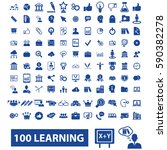 learning icons  | Shutterstock .eps vector #590382278