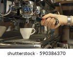 bartender who prepares an... | Shutterstock . vector #590386370