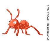 cartoon smiling ant | Shutterstock .eps vector #590387678