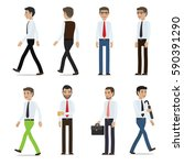 businessmen cartoon characters... | Shutterstock .eps vector #590391290