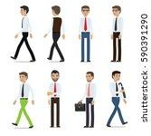 businessmen cartoon characters... | Shutterstock .eps vector #590391290