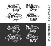 happy mother's day.modern hand... | Shutterstock .eps vector #590391614