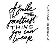 quotes about smile. modern... | Shutterstock .eps vector #590391749
