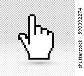 hand cursor icon. vector... | Shutterstock .eps vector #590392274