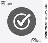 check list button icon. check... | Shutterstock .eps vector #590392430