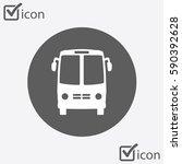 bus icon. schoolbus symbol.... | Shutterstock .eps vector #590392628
