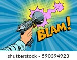 blam science fiction shot of a... | Shutterstock .eps vector #590394923