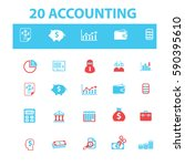 accounting icons | Shutterstock .eps vector #590395610