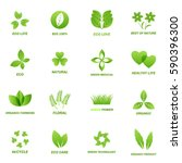 ecology icon set on white... | Shutterstock . vector #590396300