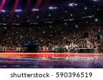 basketball court with people... | Shutterstock . vector #590396519