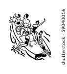 family boating fun   retro clip ...   Shutterstock .eps vector #59040016