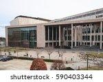 budapest  hungary   february 28 ... | Shutterstock . vector #590403344