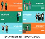 student everyday life process... | Shutterstock .eps vector #590405408