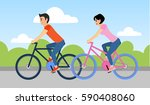 couple of man and woman are... | Shutterstock . vector #590408060