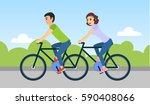 couple of man and woman are... | Shutterstock . vector #590408066