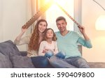 family in house planning with... | Shutterstock . vector #590409800
