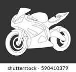 the sportive motorcycle... | Shutterstock .eps vector #590410379