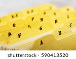 close up of alphabetical index... | Shutterstock . vector #590413520