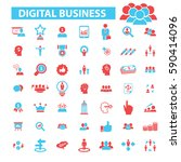 digital marketing icons    Shutterstock .eps vector #590414096