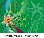 orange lily on a abstract...   Shutterstock .eps vector #59041855