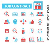 job contract icons  | Shutterstock .eps vector #590419286