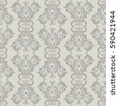 vintage floral seamless patten. ... | Shutterstock .eps vector #590421944