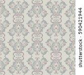 vintage floral seamless patten. ... | Shutterstock .eps vector #590421944