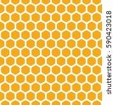honeycomb pattern. vector... | Shutterstock .eps vector #590423018
